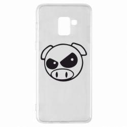 Чехол для Samsung A8+ 2018 Злая свинка