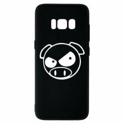 Чехол для Samsung S8 Злая свинка