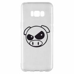 Чехол для Samsung S8+ Злая свинка