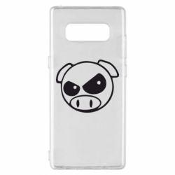 Чехол для Samsung Note 8 Злая свинка