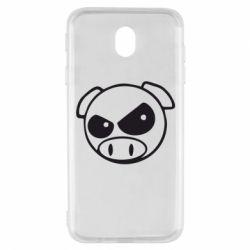 Чехол для Samsung J7 2017 Злая свинка
