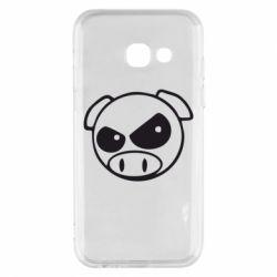 Чехол для Samsung A3 2017 Злая свинка