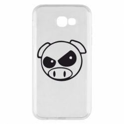 Чехол для Samsung A7 2017 Злая свинка