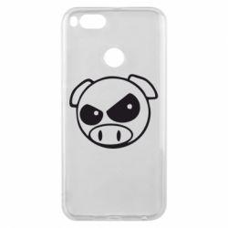 Чехол для Xiaomi Mi A1 Злая свинка