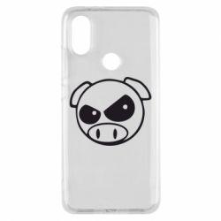 Чехол для Xiaomi Mi A2 Злая свинка
