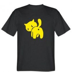Мужская футболка злий коте - FatLine