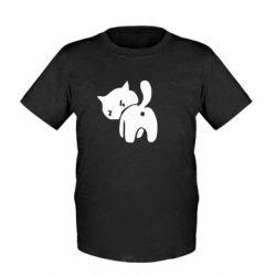 Дитяча футболка злий коте - FatLine
