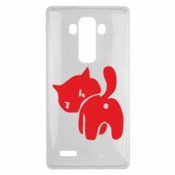 Чехол для LG G4 злой котэ - FatLine