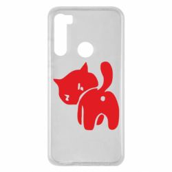 Чохол для Xiaomi Redmi Note 8 злий коте