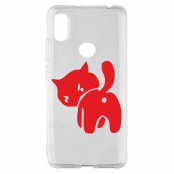 Чохол для Xiaomi Redmi S2 злий коте