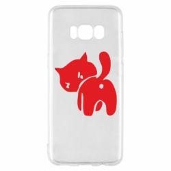 Чехол для Samsung S8 злой котэ