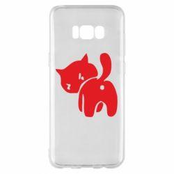 Чехол для Samsung S8+ злой котэ