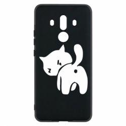Чехол для Huawei Mate 10 Pro злой котэ - FatLine