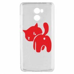 Чехол для Xiaomi Redmi 4 злой котэ - FatLine
