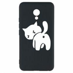 Чехол для Meizu M5 злой котэ - FatLine