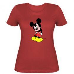 Женская футболка Злой Микки Маус - FatLine