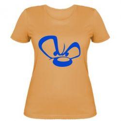 Женская футболка Злой мишка - FatLine