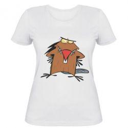 Женская футболка Злюки бобри