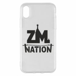 Чехол для iPhone X ZM nation - FatLine
