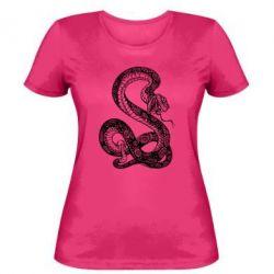 Женская футболка Змей