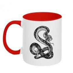 Кружка двоколірна Змій