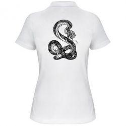 Женская футболка поло Змей