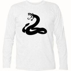 Футболка с длинным рукавом Змея - FatLine