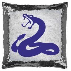 Подушка-хамелеон Змія