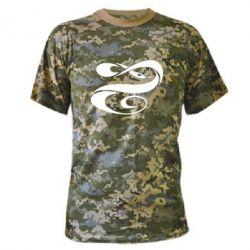 Камуфляжная футболка змеючка - FatLine