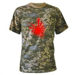Камуфляжная футболка Значек JDM - FatLine