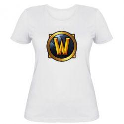 Женская футболка Значок wow - FatLine