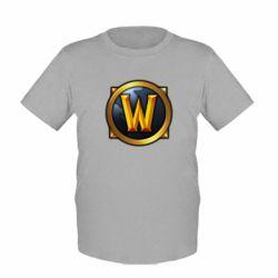 Детская футболка Значок wow - FatLine