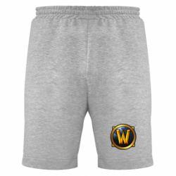 Мужские шорты Значок wow - FatLine