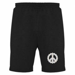 Мужские шорты Знак мира из ромашек - FatLine
