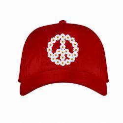 Детская кепка Знак мира из ромашек - FatLine