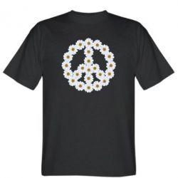 Мужская футболка Знак мира из ромашек - FatLine