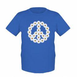 Детская футболка Знак мира из ромашек - FatLine