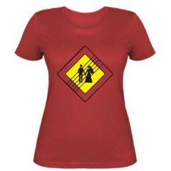 Женская футболка знак свадьбы - FatLine