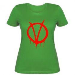 Женская футболка Знак Вендетты - FatLine