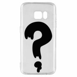 Чехол для Samsung S7 Знак Вопроса