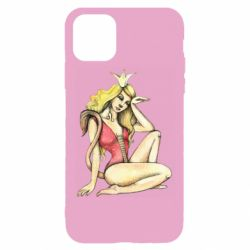 Чехол для iPhone 11 Pro Zodiac sign Leo in the image of a girl
