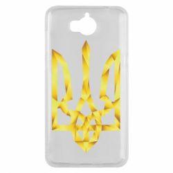 Чехол для Huawei Y5 2017 Золотий герб - FatLine