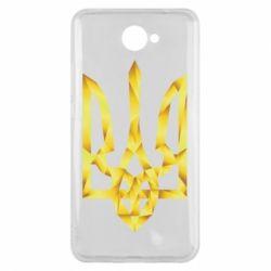Чехол для Huawei Y7 2017 Золотий герб - FatLine