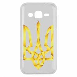 Чехол для Samsung J2 2015 Золотий герб - FatLine