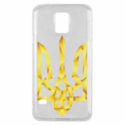 Чехол для Samsung S5 Золотий герб - FatLine