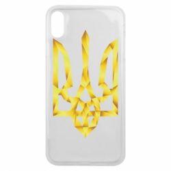 Чехол для iPhone Xs Max Золотий герб - FatLine