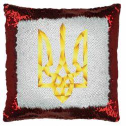 Подушка-хамелеон Золотий герб