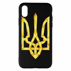 Чехол для iPhone X Золотий герб - FatLine