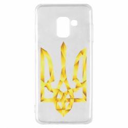 Чехол для Samsung A8 2018 Золотий герб - FatLine