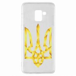 Чехол для Samsung A8+ 2018 Золотий герб - FatLine